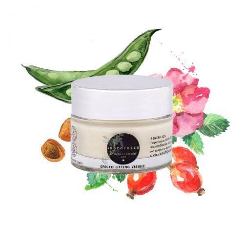 crema facial anti-edad de cosmética natural certificada