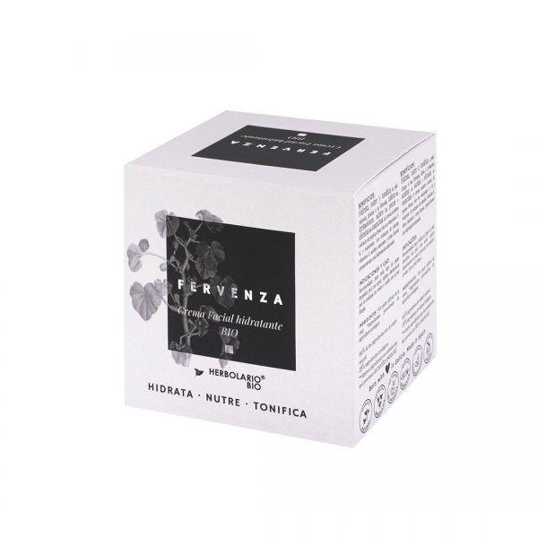FERVENZA crema facial hidratante de HERBOLARIO BIO - Detalle caja FERVENZA de HERBOLARIO BIO