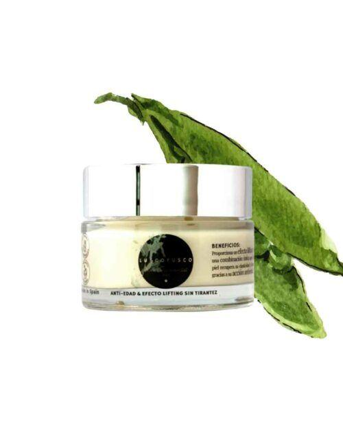 crema facial anti-edad de cosmética natural